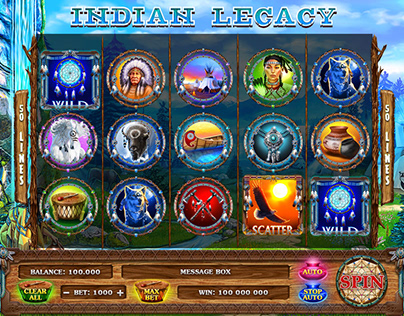 "Online slot machine – ""Indian legacy"""