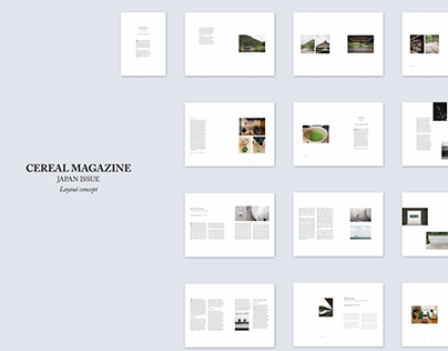 Cereal Magazine Layout Concept