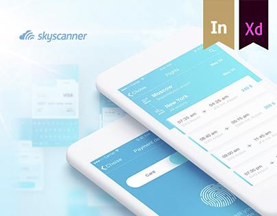 Redesign UI Skyscanner app iOS
