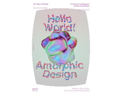 Animated Poster Amorphic Design