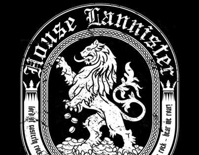 House Lannister - Game of Thrones T-shirt design
