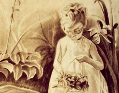 """Flower Girl"" (Graphite Drawing)"