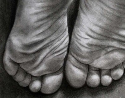 """""""Storylines of the Feet"""" (Graphite Drawing)"""