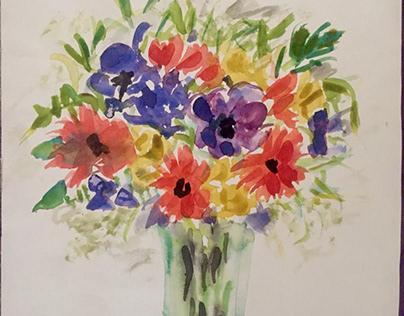 Flower dance in a vase