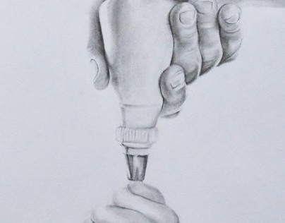 """""""Compression of an Icing Bag"""" (Graphite Drawing)"""