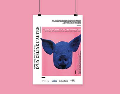 D'un Céline l'autre / Art direction / Theater poster