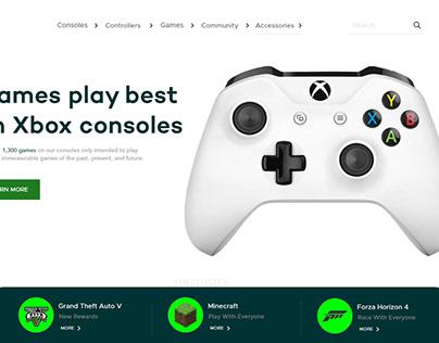 Xbox Web design