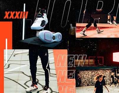 Nike: Air Jordan 33 | Concept & Landing Page