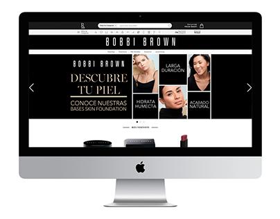 Bobbi Brown. Sitio web.