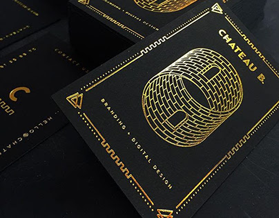 30pt onyx black paper with gold foil business cards on behance colourmoves Gallery