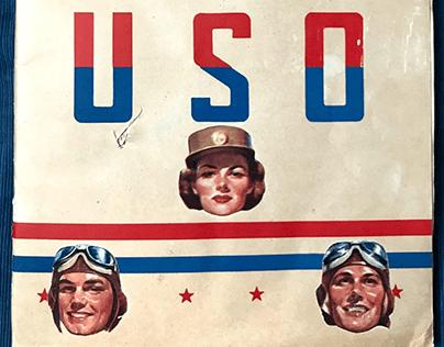 USO SCRAPBOOK SERVICE WWII Comics Short Stories Quizzes
