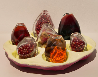 Pomegranate Seeds as Vessels