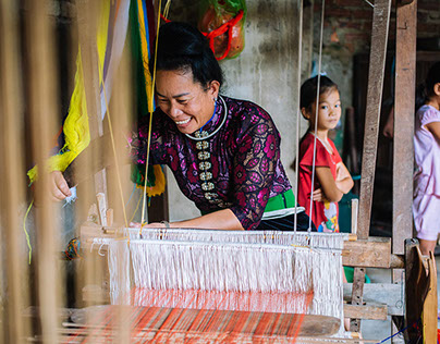 Daily life in Nghia Lo, Yen Bai Province, Vietnam