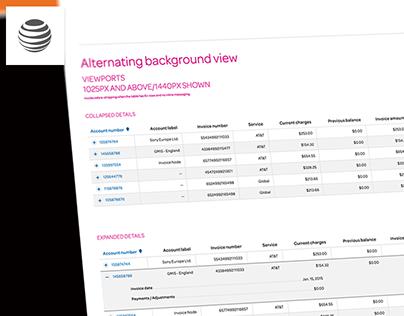 ATT - HTML Tables