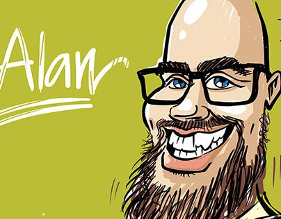 Alan and his Social Media Portrait