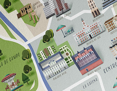 Madrid map · Traveler magazine