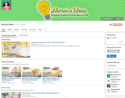 Akram's Ideas YouTube Show