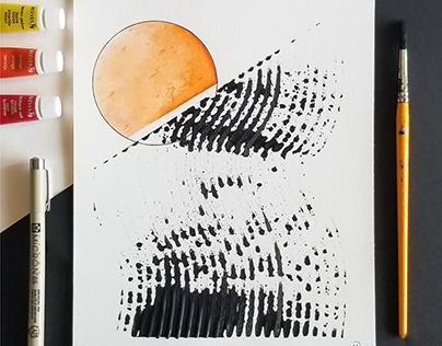 Setting Orange [8x10]