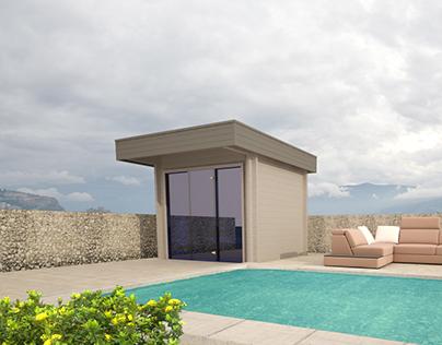 3d Visualization - Sauna