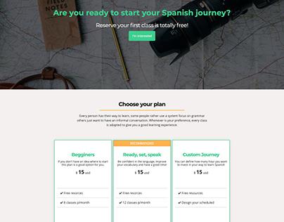 Website project - Learn Spanish