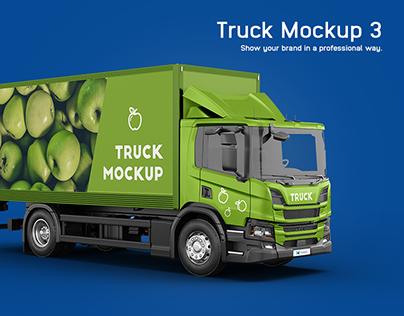 Scania P Box Truck Mockup