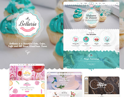 Bellaria a Delicious Cakes and Bakery WordPress Theme