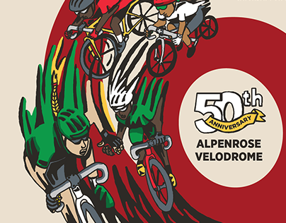 Poster for Alpenrose 6-Day Track Race