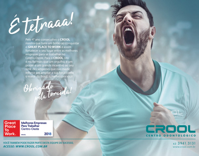 Anúncio CROOL - Prêmio Great Place to Work