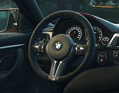 BMW M4 Interior Full CGI