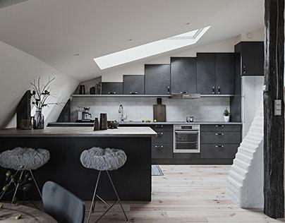Attic Scandinavian Apartment