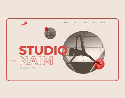 Dance Studio Website Concept