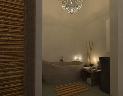 Interior design of the resort in Panama