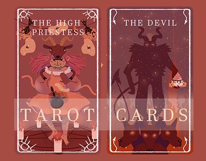 Illustrated tarot cards - Major Arcana