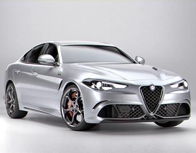 Alfa Romeo Giulia Quadrifoglio 2016 Model- Full CGI