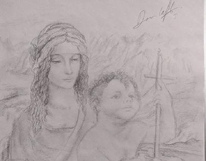 Virgen del huso D. V,  Daniela Fonseca.