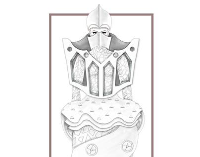 Diseño de vestuario. Inspiración Gaudí