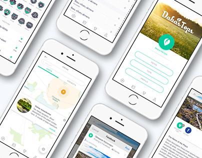 Dabas Tops UI design