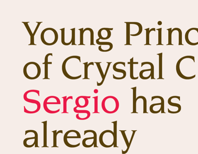 The Secret History Sergio Single