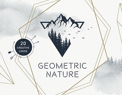 Geometric Nature. 20 Greative Logos