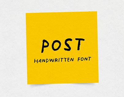 Post - Free Handwritten Font