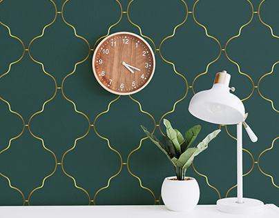 Wallpaper pattern - art deco