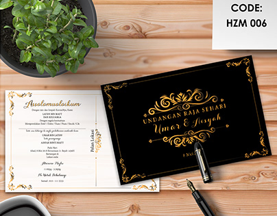 Kad Kahwin Design Projects Photos Videos Logos Illustrations And Branding On Behance