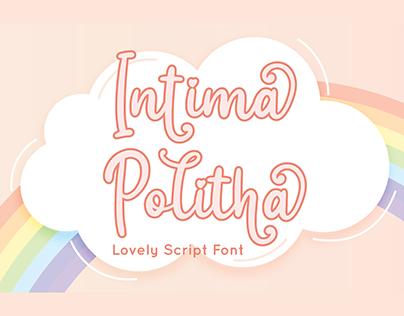 Intima Politha – Script Font