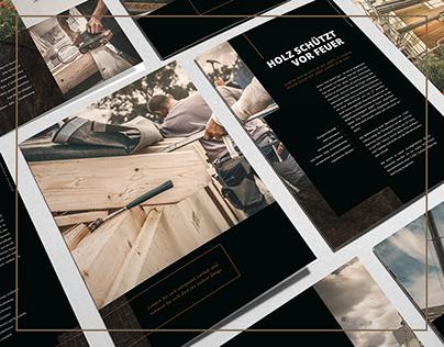 Hochwertiges Broschüren Design