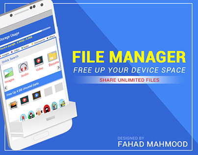 File Manager Mobile App UX Design Mockup