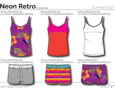 Neon Retro Surf Sleepwear Collection