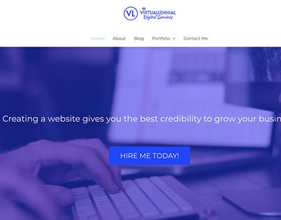 Virtuallennial - Portfolio Website Design