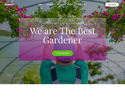 Gardener Landing Page Design 3