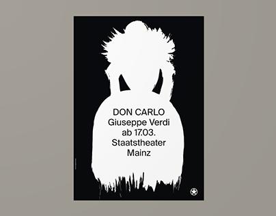 Staatstheater Mainz – Don Carlo (Poster)