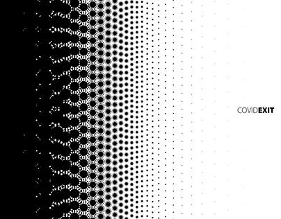 """Cartel """"Covid Exit"""", España, 2020"""